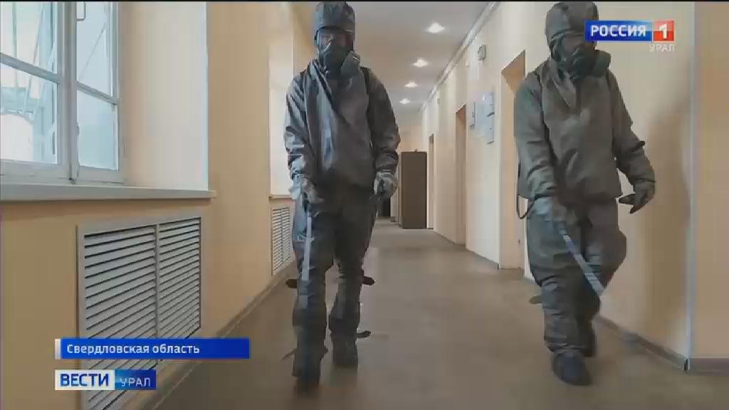 Военнослужащие ЦВО провели дезинфекцию военных ВУЗов и училищ
