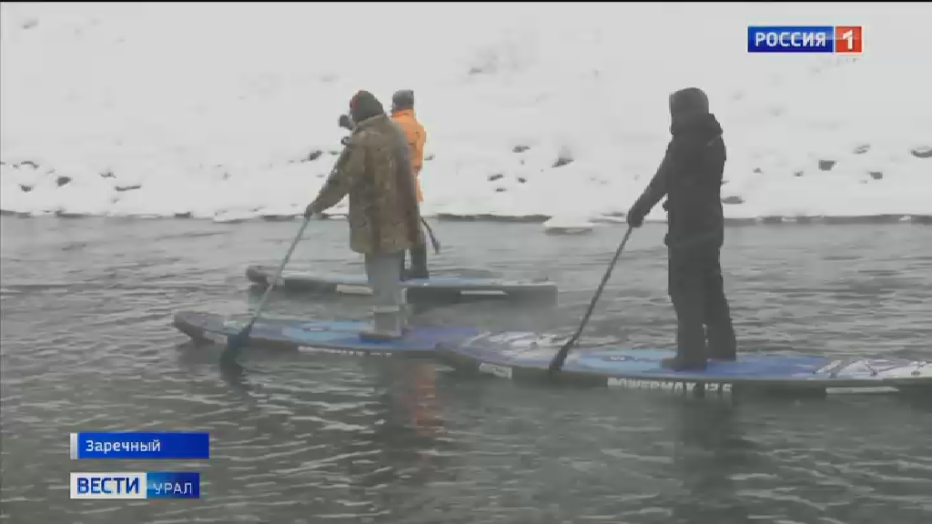 Уральские сёрферы прошли по водоотводному каналу БАЭС
