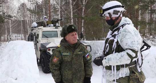 Военные ЦВО пригласили на учения ветерана ВОВ