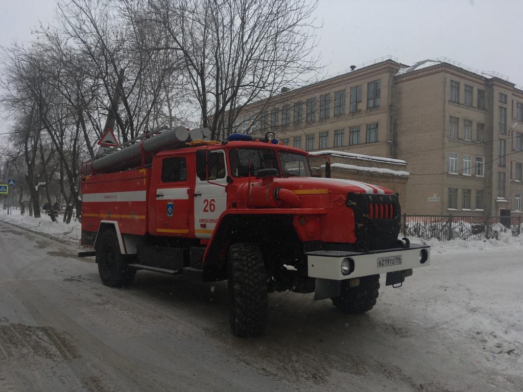 В Каменске-Уральском в школе при пожаре пострадали два ребенка