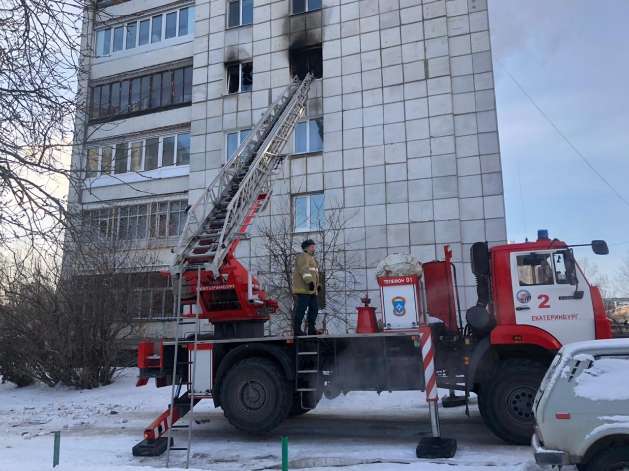 На Ангарской произошел серьёзный пожар