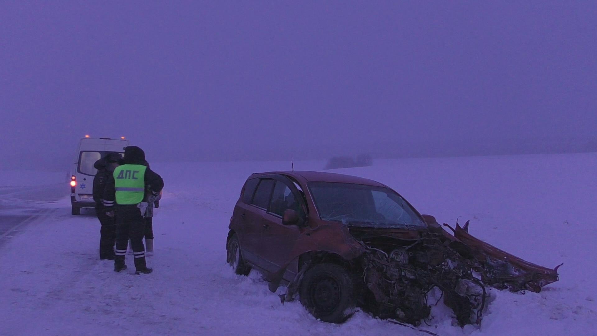 На трассе Пермь – Екатеринбург Nissan врезался в грузовик