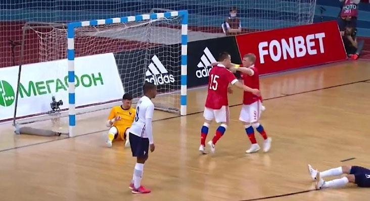 Сборная России по мини-футболу одержала победу над командой Франции