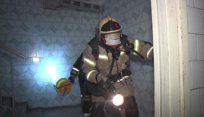 Пожарные провели учения для звеньев ГЗДС