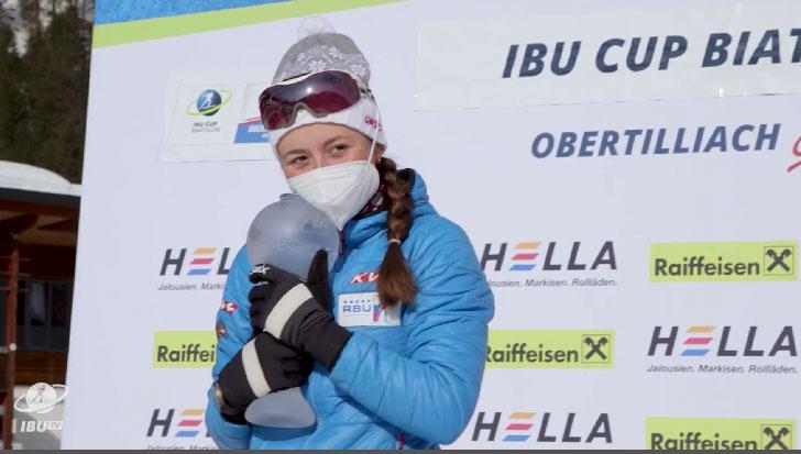Анастасия Шевченко получила Малый хрустальный глобус Кубка IBU