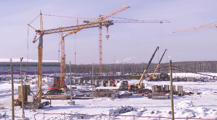 Возведение самого большого на Урале Дворца водных видов спорта идёт по графику