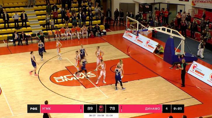 БК УГМК одержал уверенную победу над курским «Динамо»