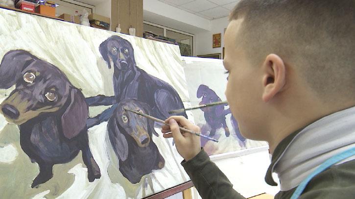 Выставка 13-летнего художника открывается в столице Урала