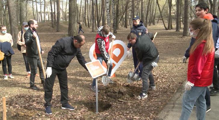 В Екатеринбурге заложили аллею в честь акции «Мы вместе»