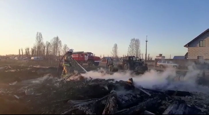 В посёлке Лубяном сгорели два жилых дома