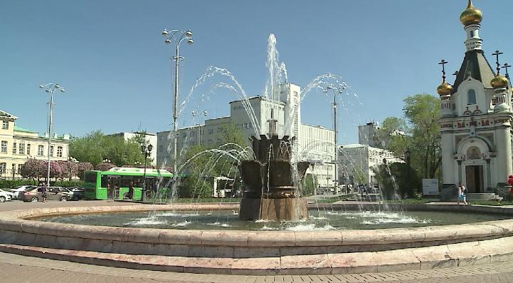 Сезон фонтанов начался в столице Урала