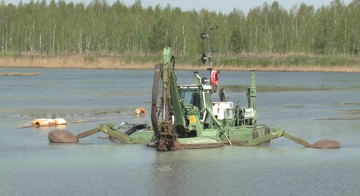 Новая центрифуга поможет очистить озеро Здохня