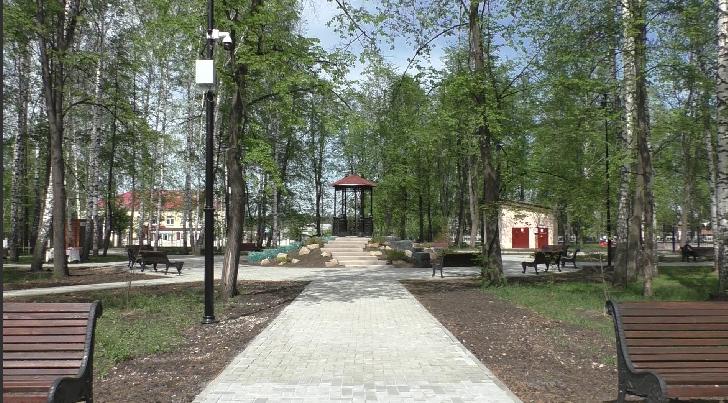 В посёлке Малышево реконструировали парк «Русь»