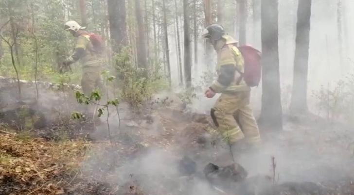 Природный пожар подбирается к посёлку Полевому