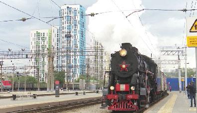 Необычный военный эшелон прибыл в Екатеринбург