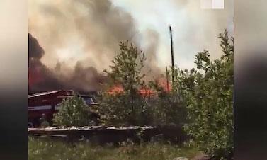 Крупный пожар в Артемовском городском округе