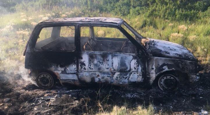 Задержан мужчина, подозреваемый в угоне и поджоге автомобиля