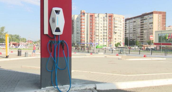 Новая АЗС для электромобилей появилась в Екатеринбурге