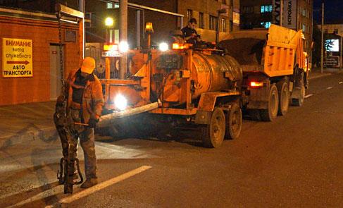 Ремонтные работы не дают уснуть жителям центра города