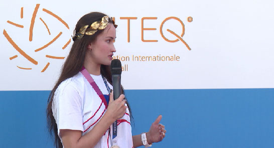 Анастасия Татарева встретилась с юными спортсменками