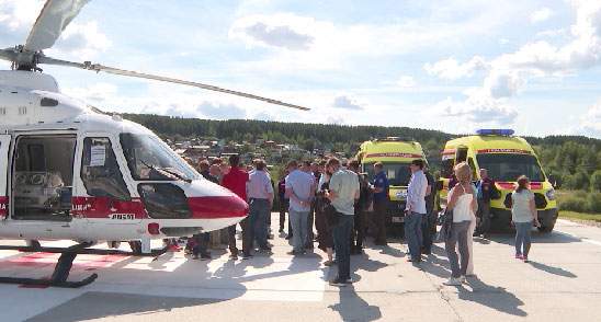 В Краснотурьинске открылась вертолётная площадка Центра медицины катастроф