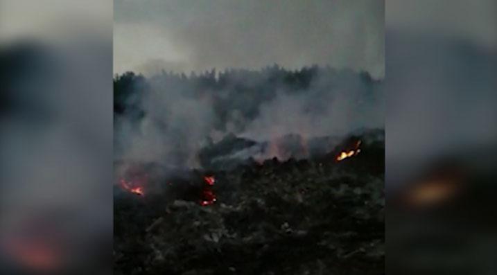 В Талицком районе люди задыхаются от дыма горящей свалки