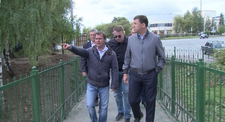 Губернатор проверил, как Верхняя Салда восстановилась после наводнения