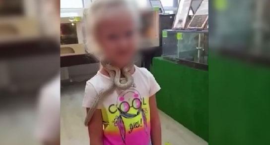 В контактном зоопарке змея укусила девочку