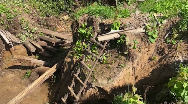 В коллективном саду под Нижним Тагилом произошёл обвал грунта
