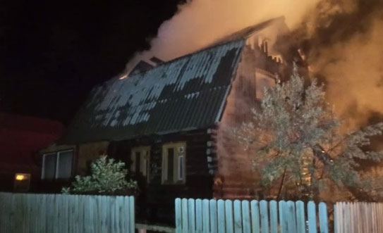 В СНТ «Полянка» сгорели два дома
