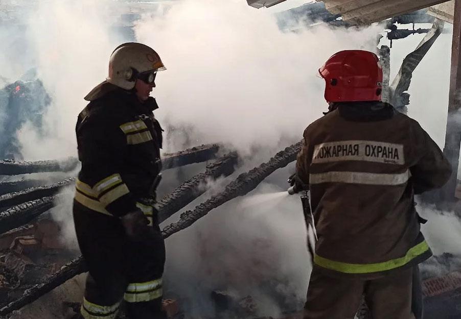 Крупный пожар в посёлке Коптяки
