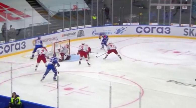 ХК «Автомобилист» обыграл СКА со счётом 4:2