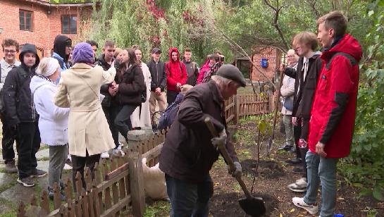В Литературном квартале высадили липы в честь Дня рождения Ф.М. Решетникова