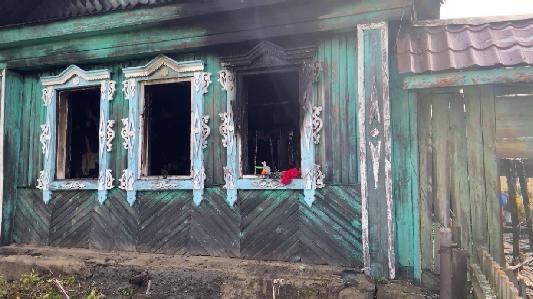 В селе Кадниково в пожаре погибли двое детей