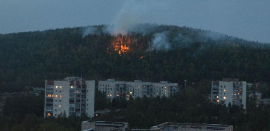 Пожар рядом с Новоуральском