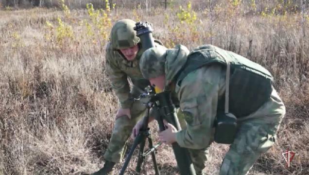Офицеры-артиллеристы Уральского округа Росгвардии провели тренировку