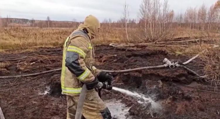Борьба с тлеющим торфом продолжается в Екатеринбурге