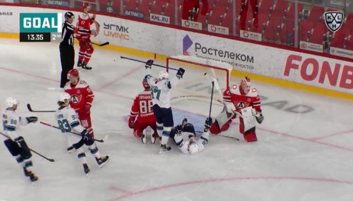 ХК «Автомобилист» в домашнем матче чемпионата КХЛ уступил «Сочи»